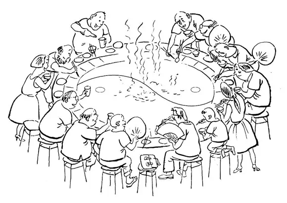 重庆火锅火锅是中国的传统饮食方式,起源于民间,历史悠久。 今日火锅的容器、制法和调味等,虽然已经历了上千年的演变,但一个共同点未变,就是用火烧锅,以水(汤)导热,煮(涮)食物。这种烹调方法早在商周时期已经出现,可以说它是火锅的雏形。 《韩诗外传》中记载,古代祭祀或庆典,要击钟列鼎而食,即众人围在鼎的周边,将牛羊肉等食物放入鼎中煮熟分食,这就是火锅的萌芽。历经秦、汉、唐代的演变,直到宋代才真正有了火锅的记载。 宋人林洪在其《山家清供》中提到吃火锅之事,即其所称的拨霞供,谈到他游五夷山,访师道,在雪地里
