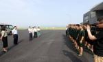 市总工会领导送清凉慰问重庆机场集团基层一线职工 - 机场