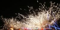 """2月17日晚,第三届""""龙耀宝岛""""中华铜梁火龙赴台湾展演,图为龙舞现场。记者 杨铌紫 摄 - 重庆新闻网"""